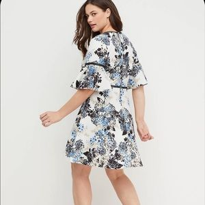 Lane Bryant Floral Fit and Flare Dress Size 14